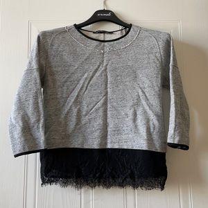 Zara knit and lace sweater
